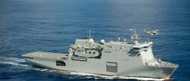 HMNZS Canterbury: Charter Parade