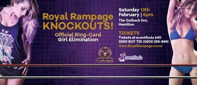 Royal Rampage Knockouts Official Ring-Card Girl Elimination