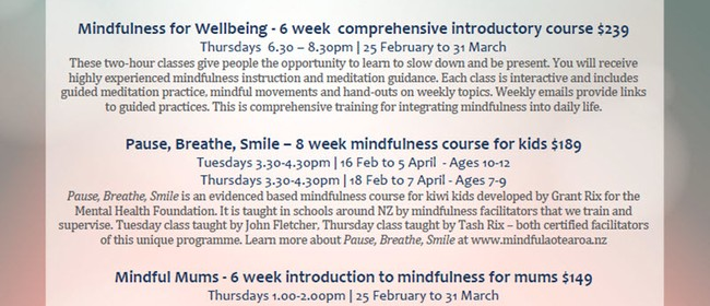 Mindfulness for Wellbeing 6-week Course