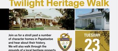 Papatoetoe Twilight Heritage Walk