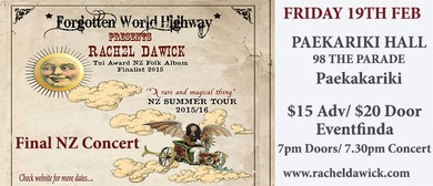 Rachel Dawick - final gig of Summer Tour