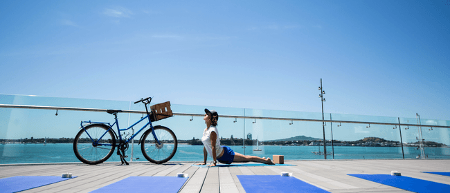 Yoga Outdoors with Bikes & Bends