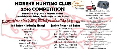 Horeke Hunting Club 2016 Comptetition