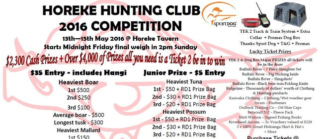 Horeke Hunting Club 2016 Comptetition