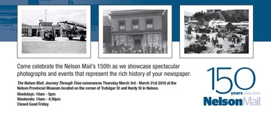 Nelson Mail 150 Years 1866 - 2016