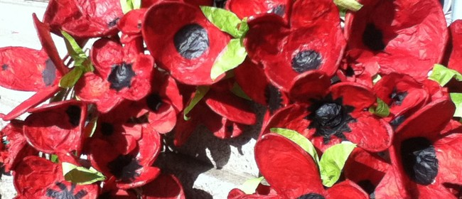 Pop up Poppy Making for Collaborative Anzac Wreath