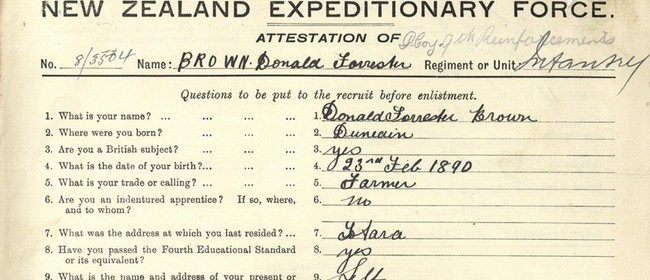 ARANZ presents: Decoding a WWI Service Record