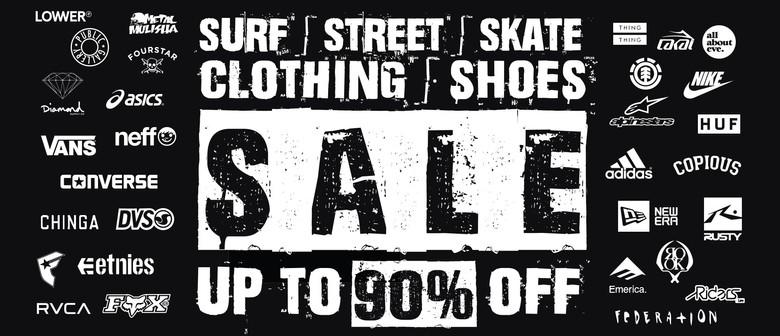 Surf Street Skate Clothing & Shoes Pop Up Sale