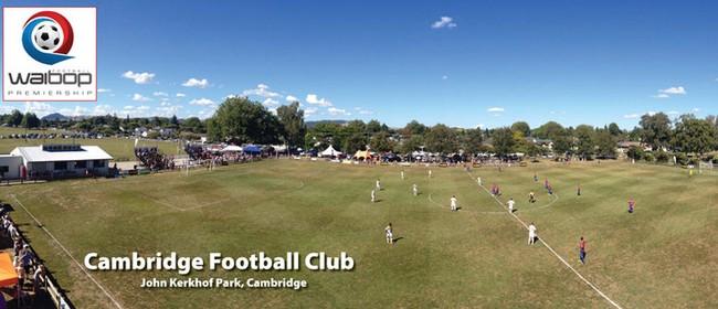 Cambridge v Waikato Unicol (WaiBOP Premiership football)
