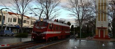 Vintage Railcar Shuttles - HB Toyota Winter Deco