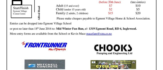 Mid Winter Egmont Village Fun Run