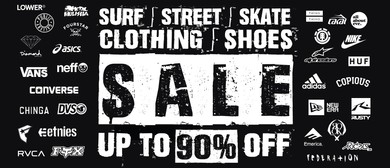 Surf Street Skate Clothing & Shoes Pop Up Sale