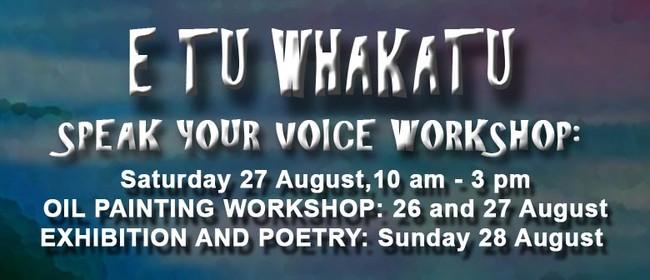 E Tu Whakatu - Poetry & Paint Workshops