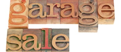 Garage Sale, Baking Stand and Sausage Sizzle