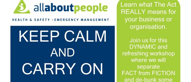 Keep Calm and Carry On Safely Workshop