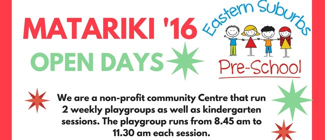 Eastern Suburbs Preschool Matariki Open Days