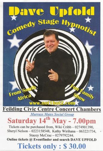Ngaruawahia New Zealand  city photos gallery : Ngaruawahia New Zealand events Dave Upfold Comedy Stage Hypnotist Te ...