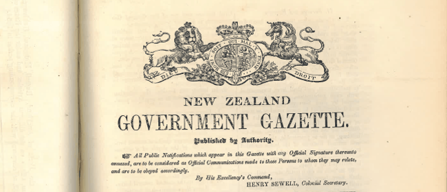 Research for Māori In the New Zealand Gazette