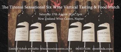 Tironui Sensational Six Wine Vertical Tasting & Food Match