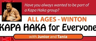 Winton Kapa Haka for Everyone