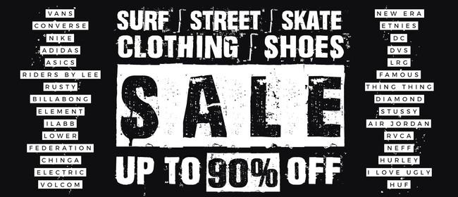 Surf Street Skate Branded Clothing & Shoes Pop Up Sale