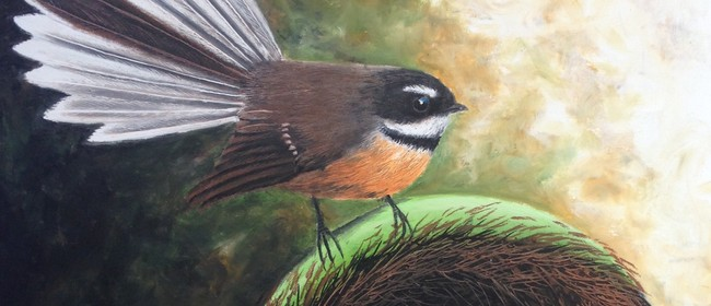 Fantail In Oil Pastel Workshop