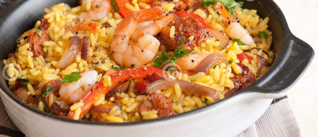 Seafood and Chorizo Paella - Cooking Class