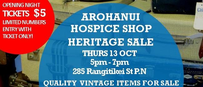 Arohanui Hospice Shop Heritage Sale