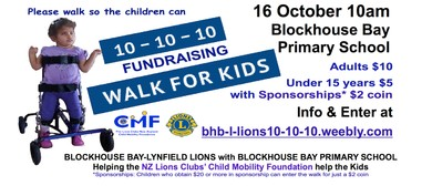 Lions Clubs Mobility 10-10-10 Walk for Kids