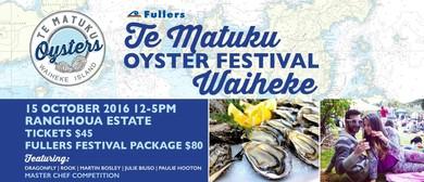 Te Matuku Oyster Festival '16