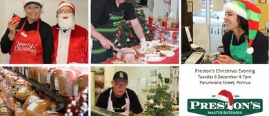 Preston's Master Butchers Christmas Evening