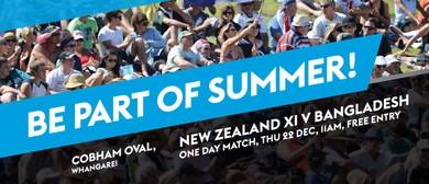 NZ XI V Bangladesh One Day Match