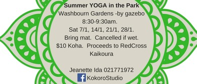 Summer Yoga In the Park