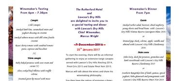 Wine Evening With Lawson's Dry Hills: CANCELLED
