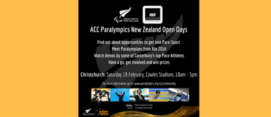ACC Paralympics New Zealand Open Day