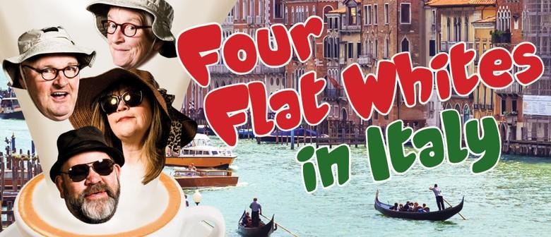 Four flat whites