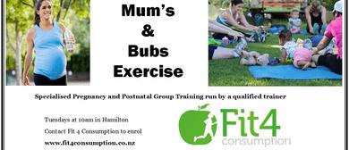 Mum's & Bubs Group Exercise Class