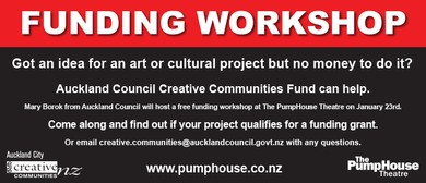 Funding Workshop for Art and Culture Projects