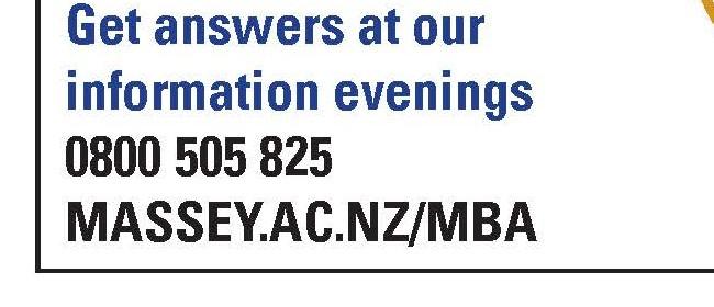 Massey University MBA Information Evening
