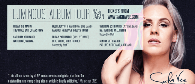 Sacha Vee - Luminous Album Tour