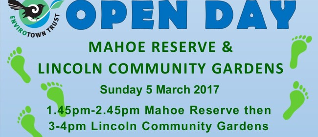 Mahoe Reserve and Lincoln Community Garden Open Day