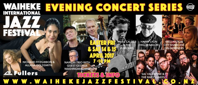 Waiheke Jazz Festival - Evening Concert Series