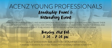 ACENZ Young Professionals Leadership Panel and Networking