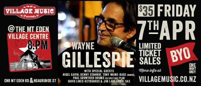 Wayne Gillespie In Concert
