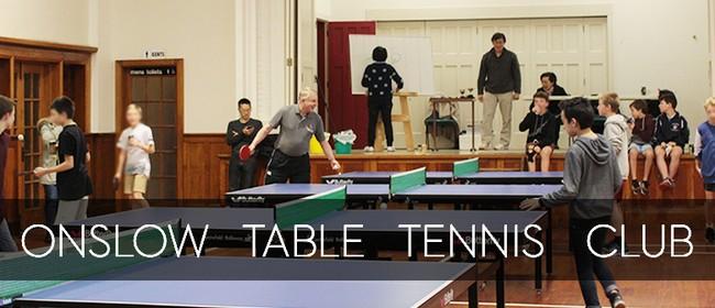 Onslow Table Tennis Club (Junior and Seniors)