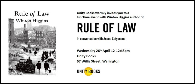 Lunchtime Event - Winton Higgins Author of Rule of Law