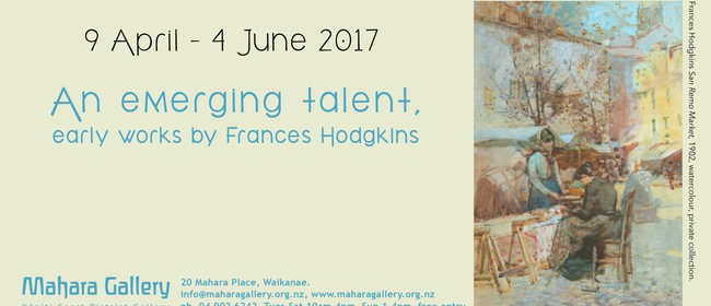 An Emerging Talent, Early Works By Frances Hodgkins