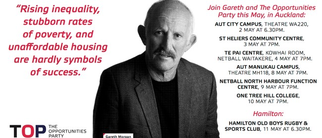 Gareth Morgan's Opportunities Party Penrose Talk