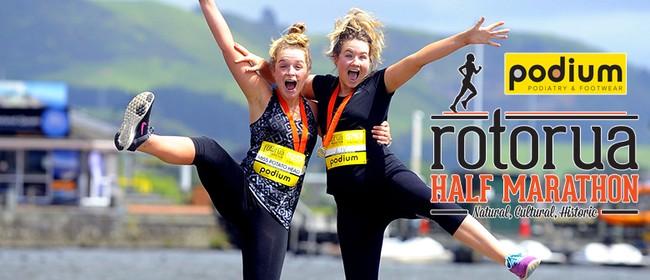 Podium Rotorua Half Marathon