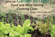 Garden to Table Food & Wine Pairing Cooking Class